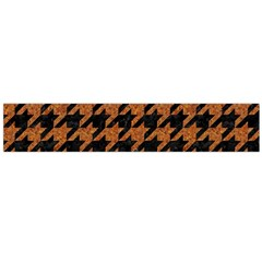 Houndstooth1 Black Marble & Rusted Metal Flano Scarf (large) by trendistuff