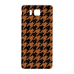 Houndstooth1 Black Marble & Rusted Metal Samsung Galaxy Alpha Hardshell Back Case by trendistuff