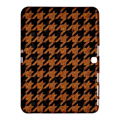 Houndstooth1 Black Marble & Rusted Metal Samsung Galaxy Tab 4 (10 1 ) Hardshell Case  by trendistuff