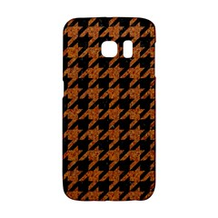 Houndstooth1 Black Marble & Rusted Metal Galaxy S6 Edge by trendistuff
