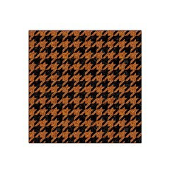 Houndstooth1 Black Marble & Rusted Metal Satin Bandana Scarf
