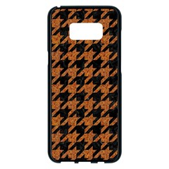 Houndstooth1 Black Marble & Rusted Metal Samsung Galaxy S8 Plus Black Seamless Case by trendistuff