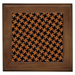 HOUNDSTOOTH2 BLACK MARBLE & RUSTED METAL Framed Tiles