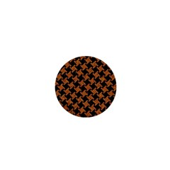 HOUNDSTOOTH2 BLACK MARBLE & RUSTED METAL 1  Mini Buttons