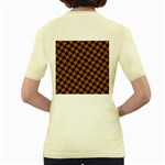 HOUNDSTOOTH2 BLACK MARBLE & RUSTED METAL Women s Yellow T-Shirt Back