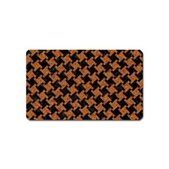 HOUNDSTOOTH2 BLACK MARBLE & RUSTED METAL Magnet (Name Card)