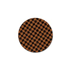 HOUNDSTOOTH2 BLACK MARBLE & RUSTED METAL Golf Ball Marker (4 pack)