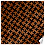 HOUNDSTOOTH2 BLACK MARBLE & RUSTED METAL Canvas 16  x 16   16 x16 Canvas - 1
