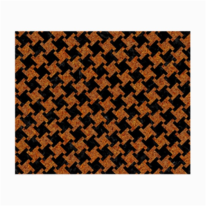 HOUNDSTOOTH2 BLACK MARBLE & RUSTED METAL Small Glasses Cloth (2-Side)