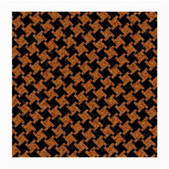 HOUNDSTOOTH2 BLACK MARBLE & RUSTED METAL Medium Glasses Cloth (2-Side)