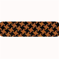HOUNDSTOOTH2 BLACK MARBLE & RUSTED METAL Large Bar Mats