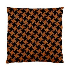 HOUNDSTOOTH2 BLACK MARBLE & RUSTED METAL Standard Cushion Case (One Side)