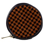 HOUNDSTOOTH2 BLACK MARBLE & RUSTED METAL Mini Makeup Bags Back