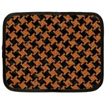 HOUNDSTOOTH2 BLACK MARBLE & RUSTED METAL Netbook Case (XL)  Front
