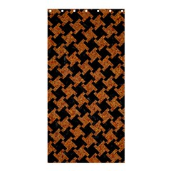 HOUNDSTOOTH2 BLACK MARBLE & RUSTED METAL Shower Curtain 36  x 72  (Stall)