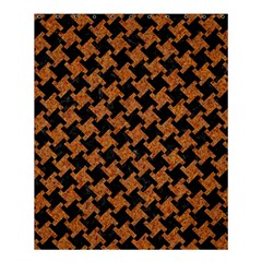 HOUNDSTOOTH2 BLACK MARBLE & RUSTED METAL Shower Curtain 60  x 72  (Medium)