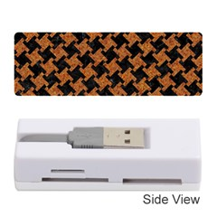 HOUNDSTOOTH2 BLACK MARBLE & RUSTED METAL Memory Card Reader (Stick)