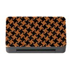 HOUNDSTOOTH2 BLACK MARBLE & RUSTED METAL Memory Card Reader with CF Front