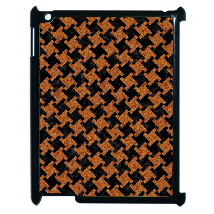 HOUNDSTOOTH2 BLACK MARBLE & RUSTED METAL Apple iPad 2 Case (Black)