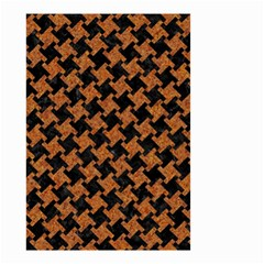 HOUNDSTOOTH2 BLACK MARBLE & RUSTED METAL Small Garden Flag (Two Sides)