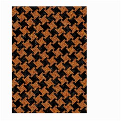 HOUNDSTOOTH2 BLACK MARBLE & RUSTED METAL Large Garden Flag (Two Sides)