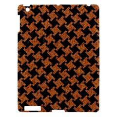 HOUNDSTOOTH2 BLACK MARBLE & RUSTED METAL Apple iPad 3/4 Hardshell Case