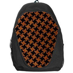HOUNDSTOOTH2 BLACK MARBLE & RUSTED METAL Backpack Bag