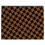 HOUNDSTOOTH2 BLACK MARBLE & RUSTED METAL Cosmetic Bag (XXXL)  Back
