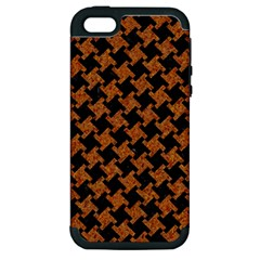 HOUNDSTOOTH2 BLACK MARBLE & RUSTED METAL Apple iPhone 5 Hardshell Case (PC+Silicone)