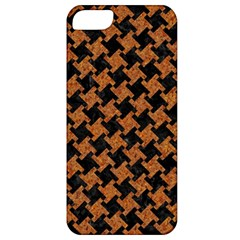 HOUNDSTOOTH2 BLACK MARBLE & RUSTED METAL Apple iPhone 5 Classic Hardshell Case