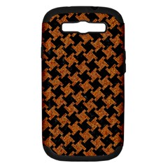 HOUNDSTOOTH2 BLACK MARBLE & RUSTED METAL Samsung Galaxy S III Hardshell Case (PC+Silicone)