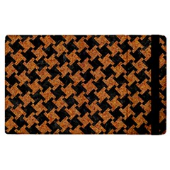 HOUNDSTOOTH2 BLACK MARBLE & RUSTED METAL Apple iPad 3/4 Flip Case