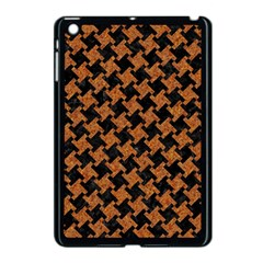HOUNDSTOOTH2 BLACK MARBLE & RUSTED METAL Apple iPad Mini Case (Black)