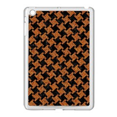 HOUNDSTOOTH2 BLACK MARBLE & RUSTED METAL Apple iPad Mini Case (White)
