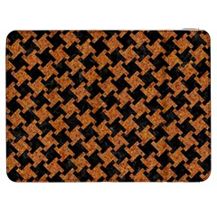 HOUNDSTOOTH2 BLACK MARBLE & RUSTED METAL Samsung Galaxy Tab 7  P1000 Flip Case