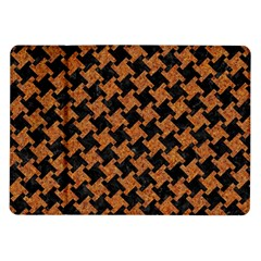 HOUNDSTOOTH2 BLACK MARBLE & RUSTED METAL Samsung Galaxy Tab 10.1  P7500 Flip Case