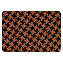 HOUNDSTOOTH2 BLACK MARBLE & RUSTED METAL Samsung Galaxy Tab 8.9  P7300 Flip Case