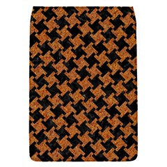 HOUNDSTOOTH2 BLACK MARBLE & RUSTED METAL Flap Covers (S)