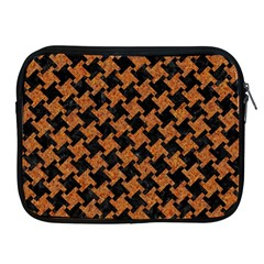 HOUNDSTOOTH2 BLACK MARBLE & RUSTED METAL Apple iPad 2/3/4 Zipper Cases