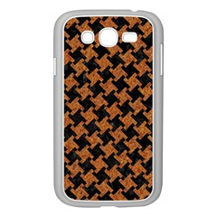 HOUNDSTOOTH2 BLACK MARBLE & RUSTED METAL Samsung Galaxy Grand DUOS I9082 Case (White)