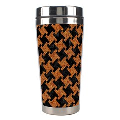 HOUNDSTOOTH2 BLACK MARBLE & RUSTED METAL Stainless Steel Travel Tumblers