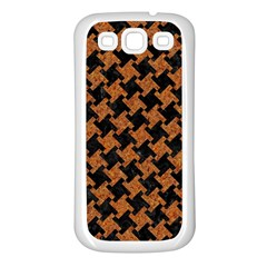 HOUNDSTOOTH2 BLACK MARBLE & RUSTED METAL Samsung Galaxy S3 Back Case (White)