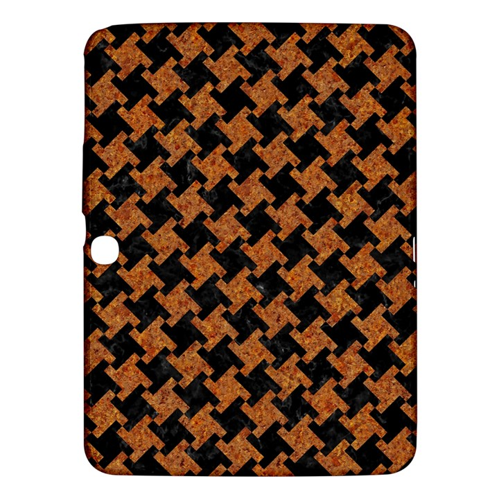 HOUNDSTOOTH2 BLACK MARBLE & RUSTED METAL Samsung Galaxy Tab 3 (10.1 ) P5200 Hardshell Case