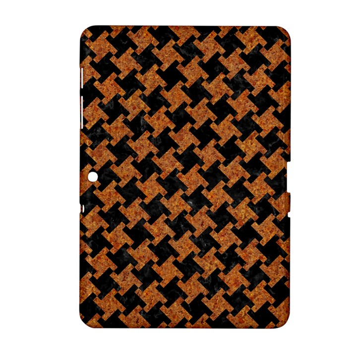 HOUNDSTOOTH2 BLACK MARBLE & RUSTED METAL Samsung Galaxy Tab 2 (10.1 ) P5100 Hardshell Case