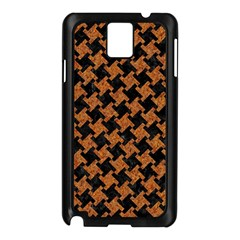 HOUNDSTOOTH2 BLACK MARBLE & RUSTED METAL Samsung Galaxy Note 3 N9005 Case (Black)