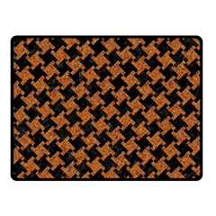 HOUNDSTOOTH2 BLACK MARBLE & RUSTED METAL Double Sided Fleece Blanket (Small)