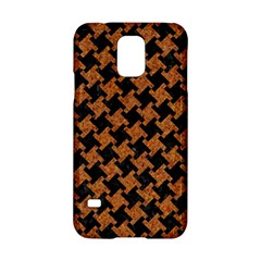 HOUNDSTOOTH2 BLACK MARBLE & RUSTED METAL Samsung Galaxy S5 Hardshell Case