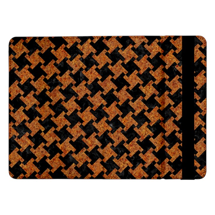 HOUNDSTOOTH2 BLACK MARBLE & RUSTED METAL Samsung Galaxy Tab Pro 12.2  Flip Case