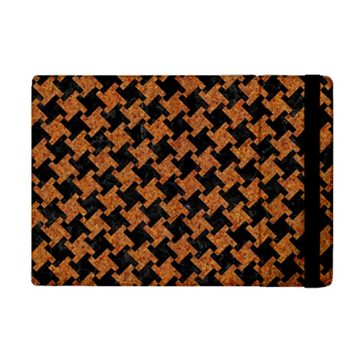 HOUNDSTOOTH2 BLACK MARBLE & RUSTED METAL iPad Mini 2 Flip Cases