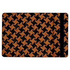 HOUNDSTOOTH2 BLACK MARBLE & RUSTED METAL iPad Air Flip